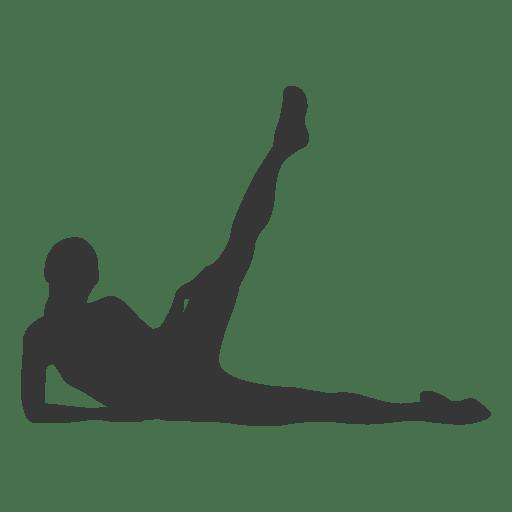 Female fitness exercise silhouette