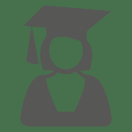 Icono de graduado femenino