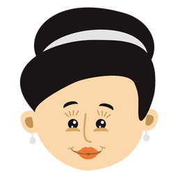 Female head cartoon