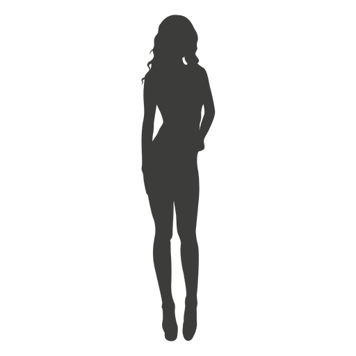 Female provoking silhouette Transparent PNG