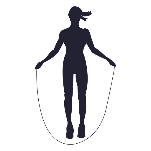 Female rope jump silhouette Transparent PNG