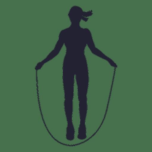 Female rope jump silhouette