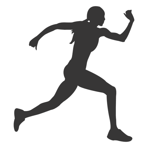 Female Running Silhouette Transparent Png Amp Svg Vector