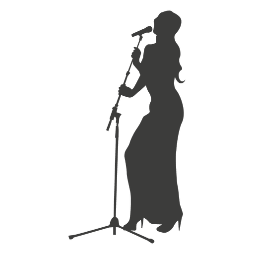 Mujer cantante silueta Transparent PNG