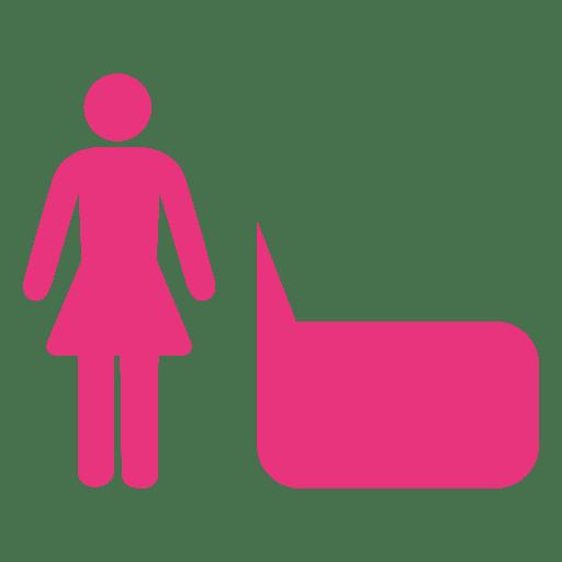 Female symbol bubble infographic Transparent PNG