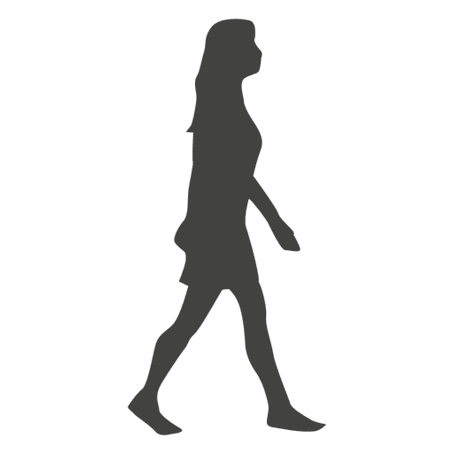 Female walking silhouette - Transparent PNG & SVG vector