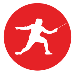 Fencing circle icon