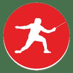 Icono de círculo de esgrima