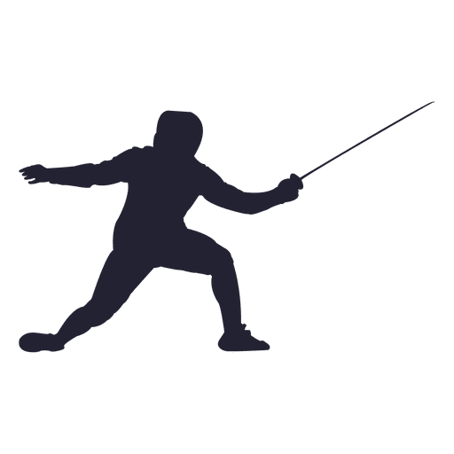 Fencing sport silhouette Transparent PNG