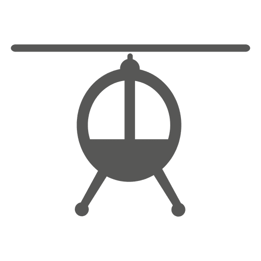 Fighter helicopter front icon
