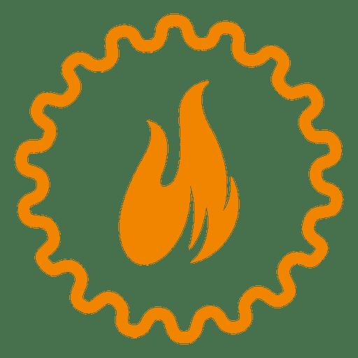 Fire wheel cion Transparent PNG