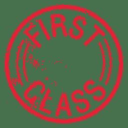 Selo circular de primeira classe