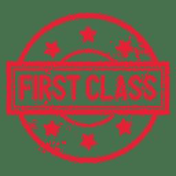 Selo redondo de primeira classe