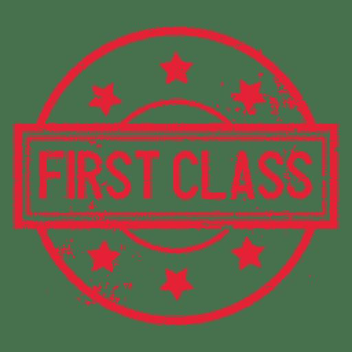 Selo redondo de primeira classe Transparent PNG