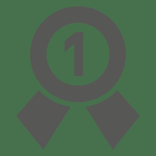 Icono de placa de primer lugar