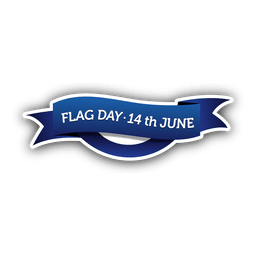 Flag day badge