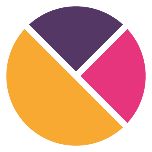 Flat colorful pie chart Transparent PNG