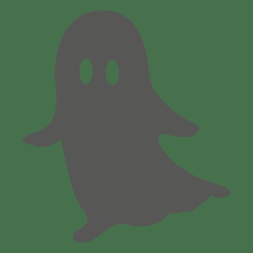 Flat halloween ghost cartoon