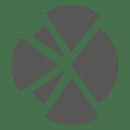 Flat pie chart icon - ...