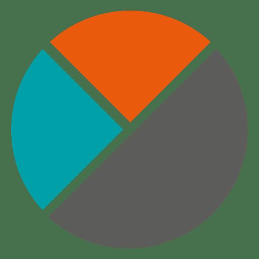 Infográfico de piechart plana Transparent PNG