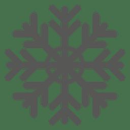 Icono de copo de nieve plana