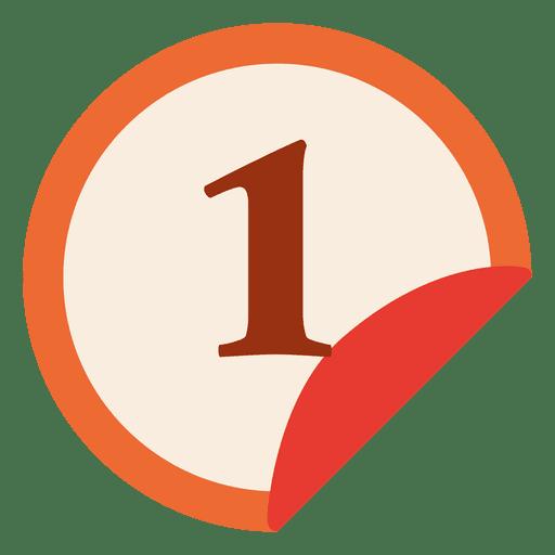 1. Platz Aufkleber umgedreht Transparent PNG