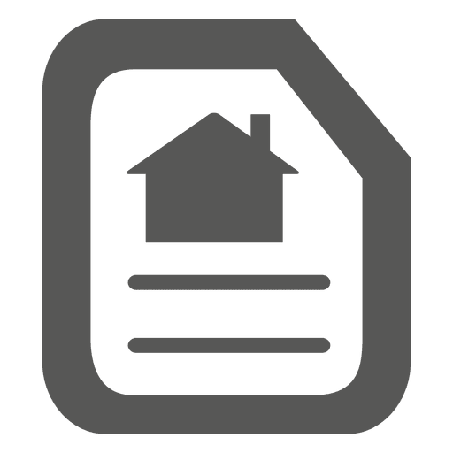 Flipped paper house icon