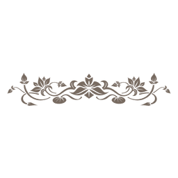 Adorno floral decorativo divisor