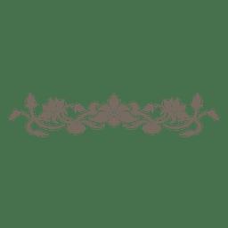 Floral curves decorative divider