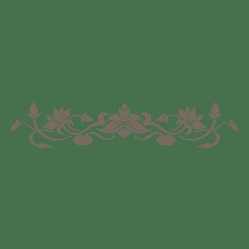 Adorno floral decorativo divisor Transparent PNG