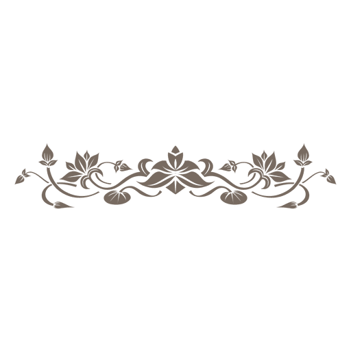 Floral decorative ornament divider  png