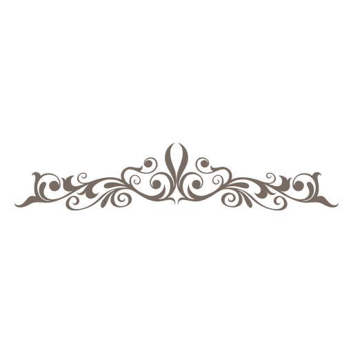 Divisor Decorativo De Curvas Florales on Swirl Page Break