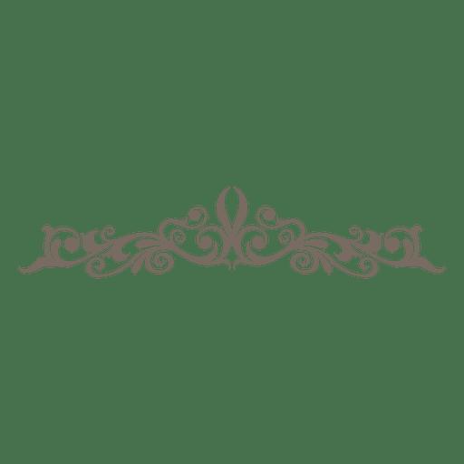 Floral curves decorative divider Transparent PNG