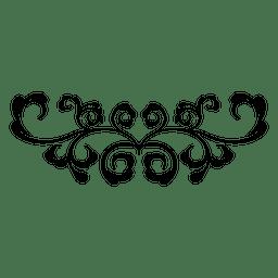 Ornamento de redemoinhos curvas florais 3