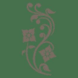 Canto de ornamento floral