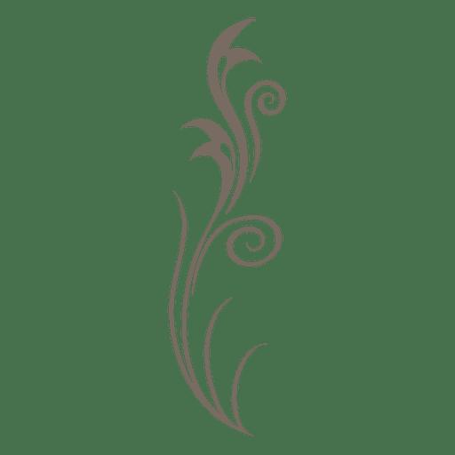 Adorno floral decorado en gris. Transparent PNG