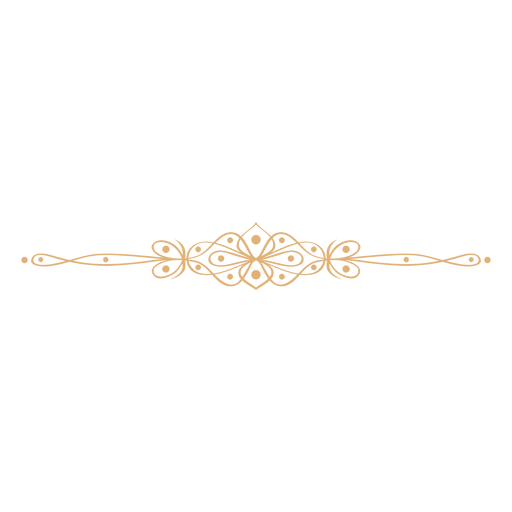 Adorno floral divisor 3 Transparent PNG