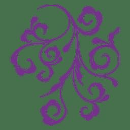 Floral ornament swirls