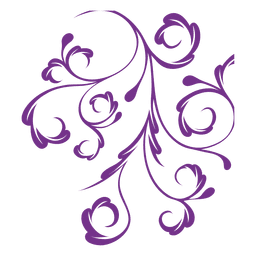 Remolinos de adornos florales