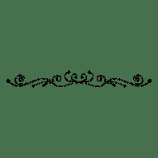 Blumenverzierung wirbelt Teiler 3 Transparent PNG
