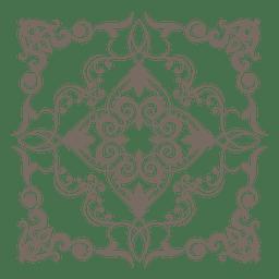 Decoração de canto ornamentado floral