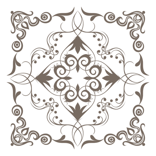 Floral Ornamented Corner Decoration Png