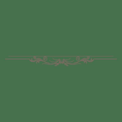 Adorno divisor floral adornado. Transparent PNG