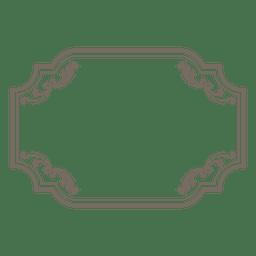 Quadro retangular ornamentado floral