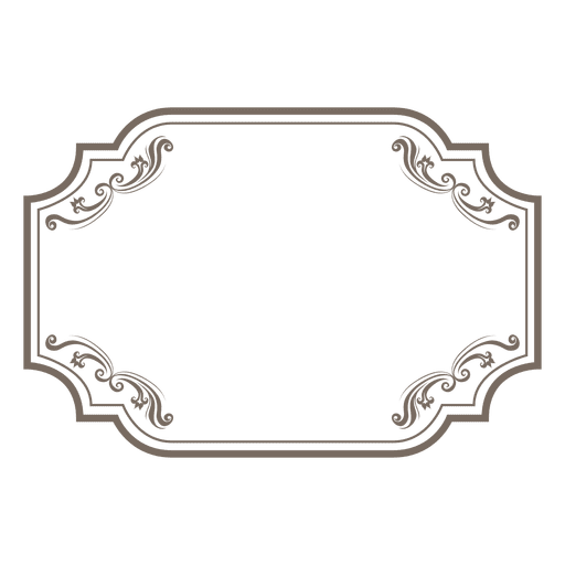 Floral ornamented rectangular frame
