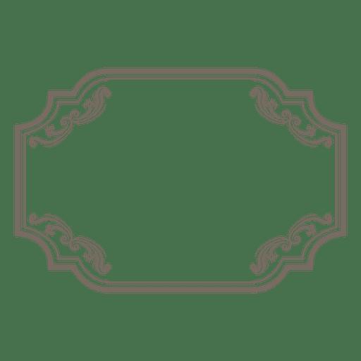 Marco rectangular adornado con flores