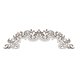 Floral ornamented round frame