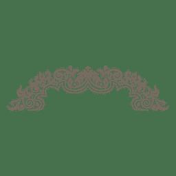 Quadro redondo ornamentado floral