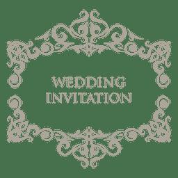 Emblema de casamento ornamentado floral 7