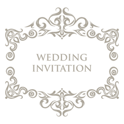 Floral ornamented wedding badge 7
